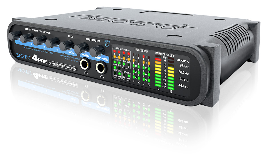 motu 4pre usb audio interface - front