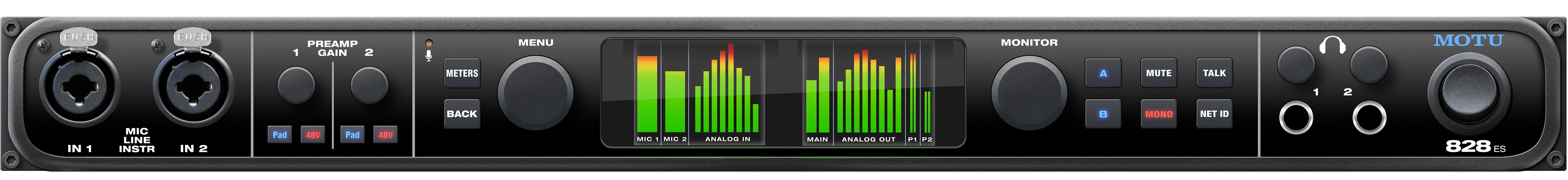 motu 828es audio interface - front
