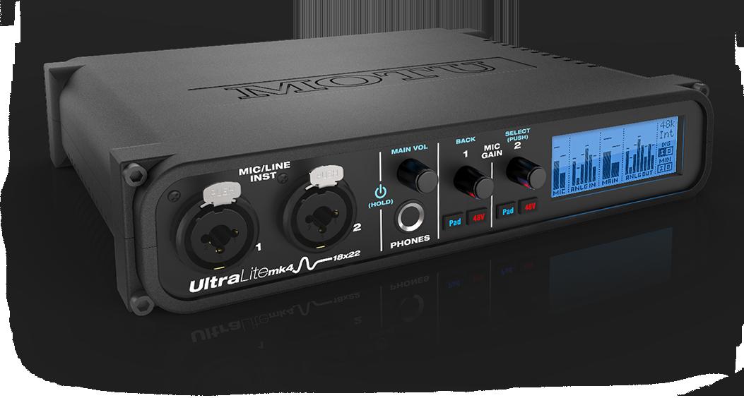 motu ultralite mk4 audio interface - front